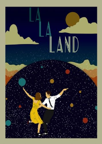 2010's Movie - LA LA LAND ARTY canvas print - self adhesive poster - photo print